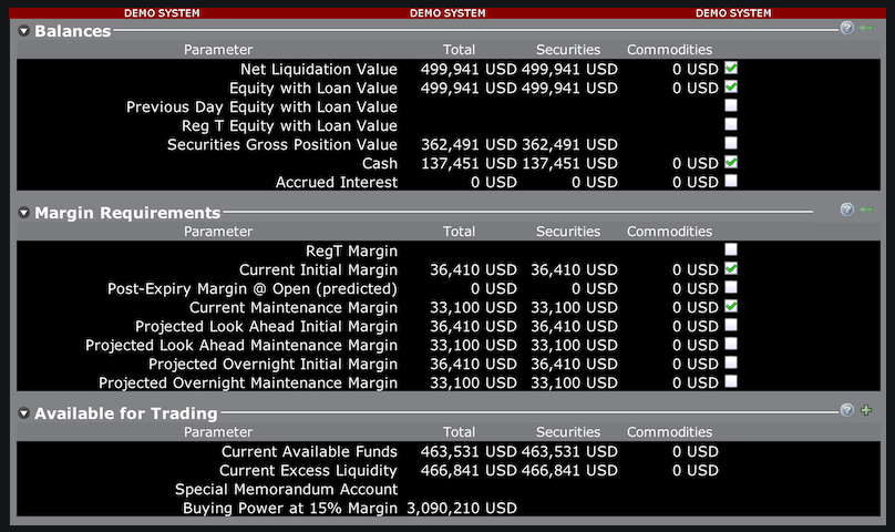 interactive brokers fees and margin